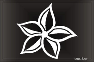 Hawaiian Plumeria Flower Window Decal
