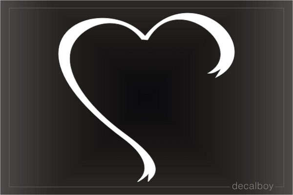 Heart Shaped Ribbon Decal