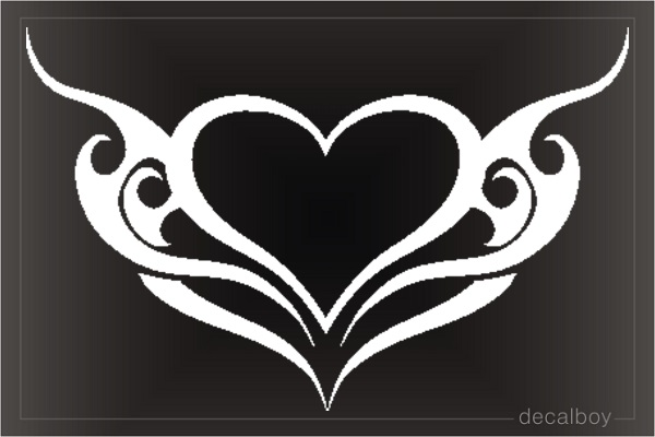 Heart Tribal Die-cut Decal