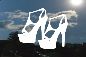 High Heel Shoes Car Decal
