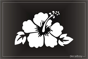 Hibiscus Hawaiian Flower Window Decal