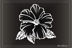 Hibiscus Hawaiian Flower Pink Window Decal