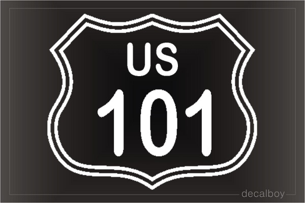 Highway Freeway Sign 101 Car Decal