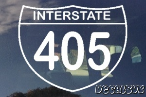 Highway Freeway Sign 405 Car Decal