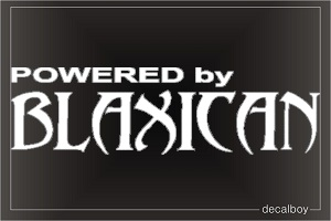 Powered By Blaxican Auto Decal