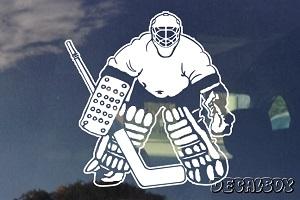 Hockey Goalie Decal Bumper Sticker