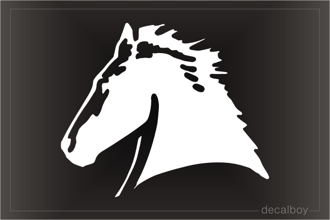 Horse Head 2077 Car Window Decal
