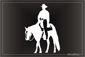 Horse Ride 69 Car Window Decal