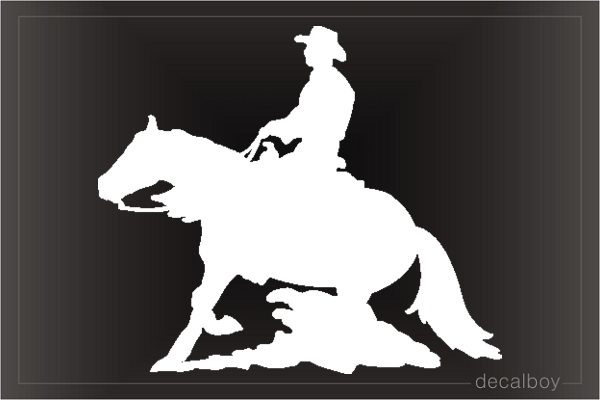 Horse Ride 55 Car Window Decal
