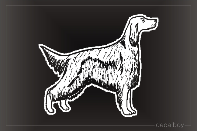 Irish Setter Car Window Decal