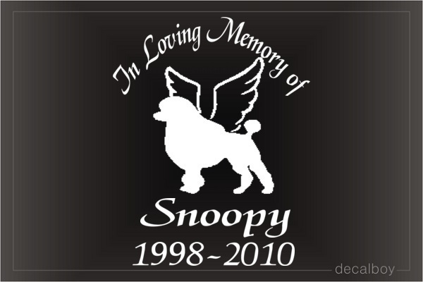 In Loving Memory Of Dog Car Decal