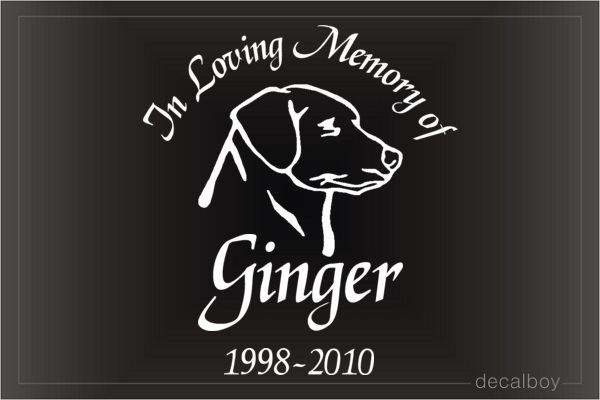 In Loving Memory Of Pet Car Decal