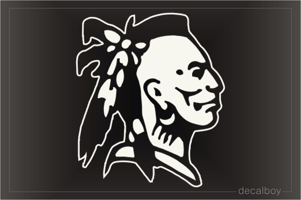 Indian Face Car Window Decal