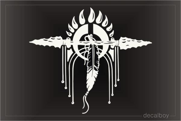 Indian Arrow Dreamcatcher Car Window Decal