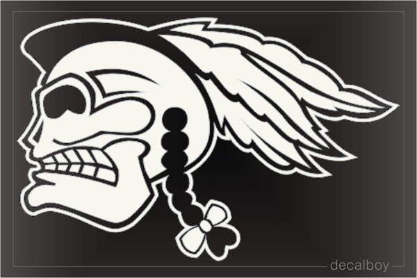 Indian Skull Car Window Decal