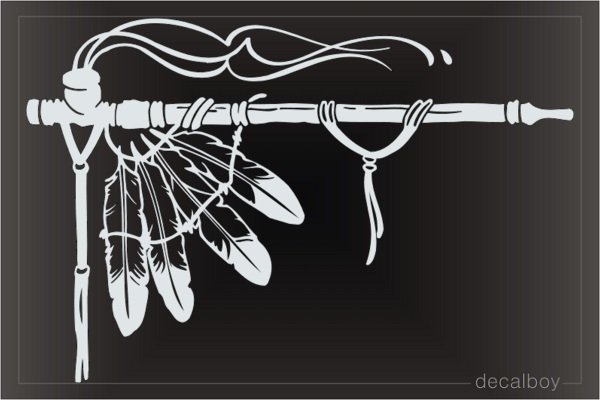 Indian Feather Car Window Decal