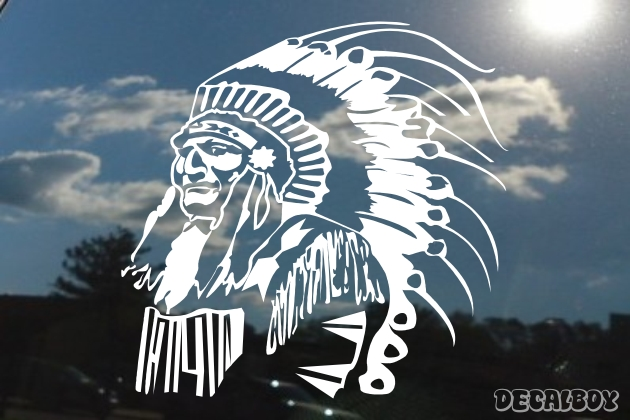 Native American Indian Chief Car Window Decal