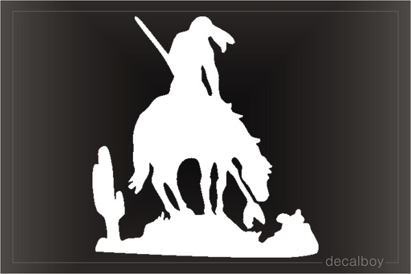 Indian Horse 666 Car Window Decal