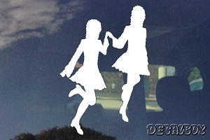 Irish Dancers Car Window Decal