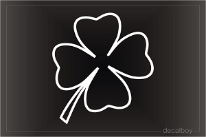 Irish Clover Decal