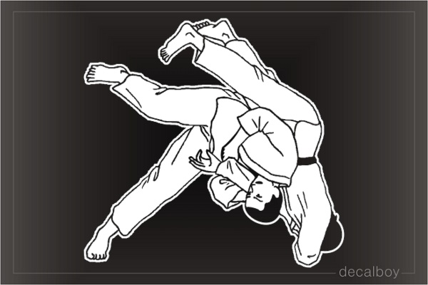 Judo Over Shoulder Throw Window Decal