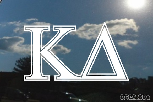 Kappa Delta Vinyl Die-cut Decal