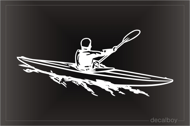 Kayaking Window Decal
