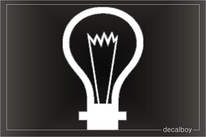 Light Bulb 2 Car Decal