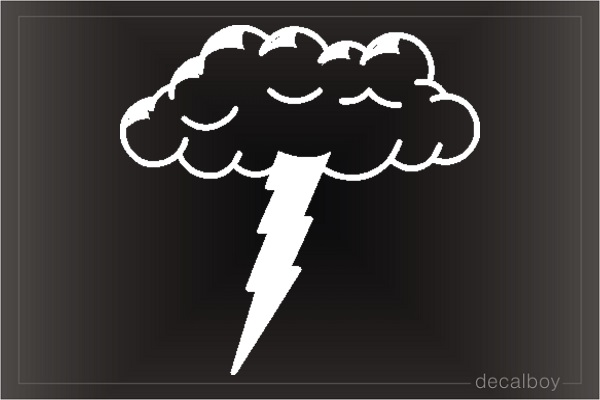 Lightning Cloud Car Decal