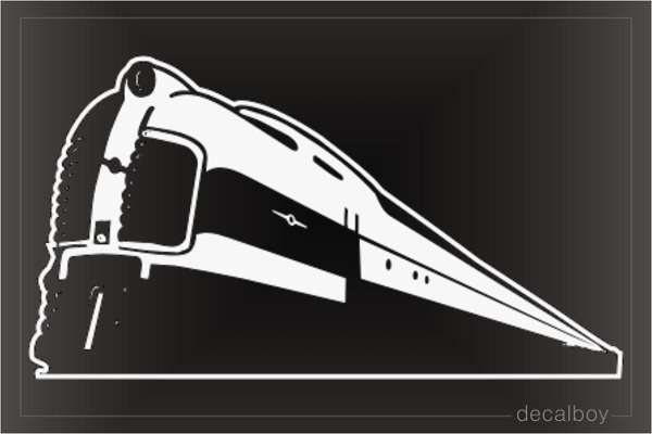 Locomotive Train Window Decal