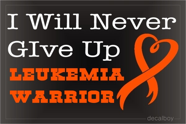Leukemia Warrior Decal