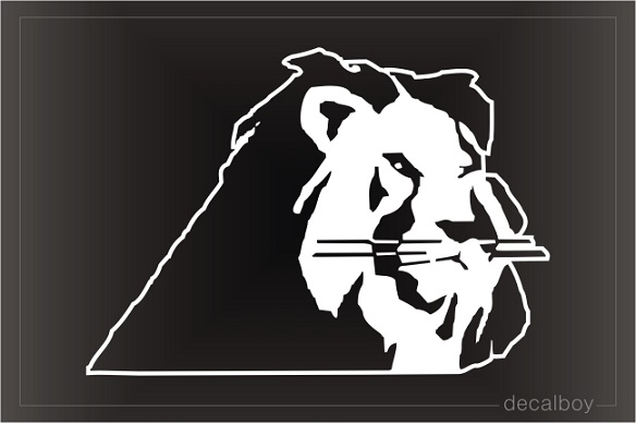 Lion Male Face Window Decal