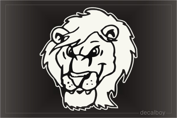 Lion Angry Face Window Decal