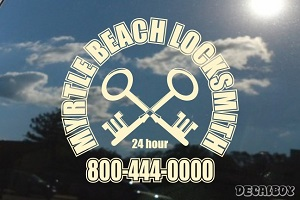 Locksmith Service Logo Vinyl Die-cut Decal