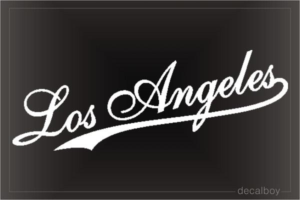 Angeles Decals Amp Stickers Decalboy