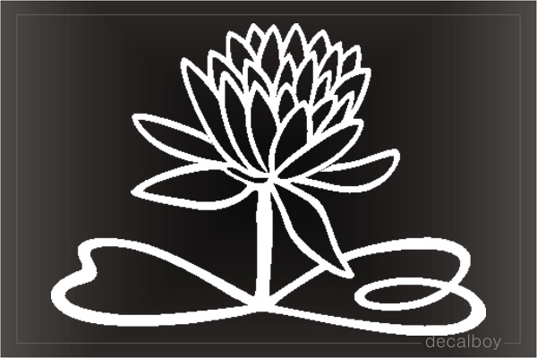 Lotus Window Decal