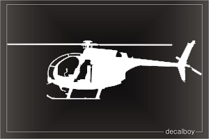 MH 6 Little Bird Drawn Helicopter Decal