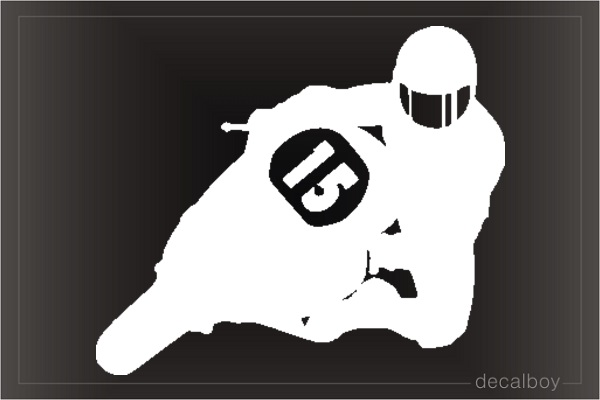 Motorcycle Sport Window Decal