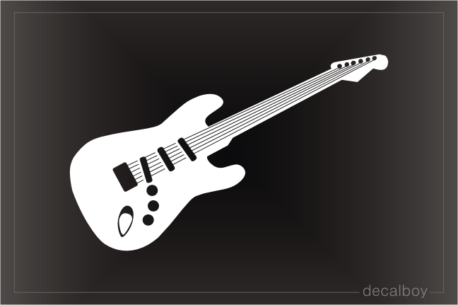 Guitar Electric Car Decal