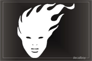 Mask 1 Car Decal