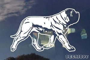 Bullmastiff Walking Car Window Decal