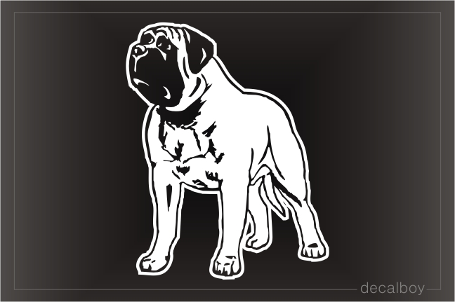 Bullmastiff Car Window Decal