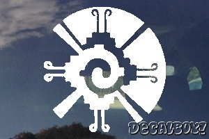 Mayan Galactic Butterfly Symbol Auto Decal