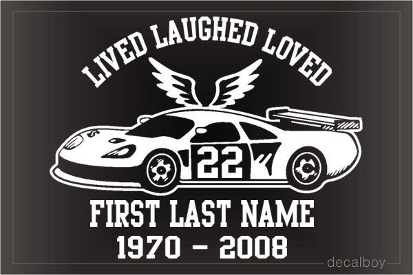 Memorial Racing Nascar Car Decal
