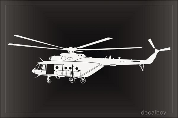 MI 17 Helicopter Decal