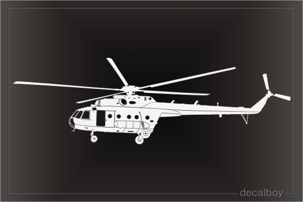 Mil MI 17 Helicopter Decal