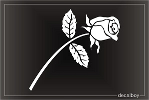 Rose Flower Window Decal