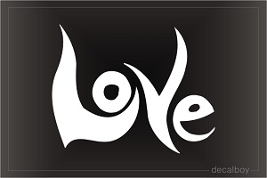 Love Tribal Sign Car Decal