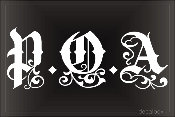 Monogram Text Vinyl Die-cut Decal