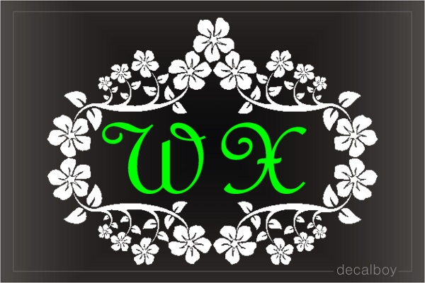 Monogram Swirling Frame Die-cut Decal